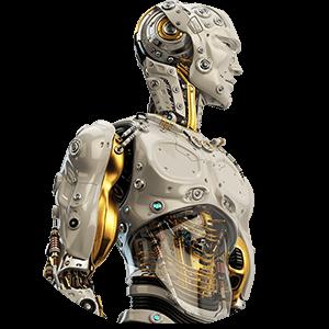 robot man upper circle