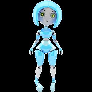 trendy girl robot
