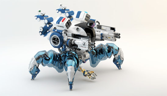 Spider police robotic unit