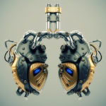 Artificial robotic internal organ - steel lungs with sensors