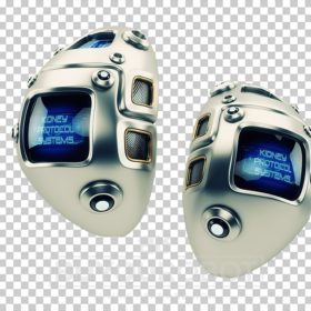 Eternal artificial kidneys. Unique robotic internal organ - steel kidney with sensor.