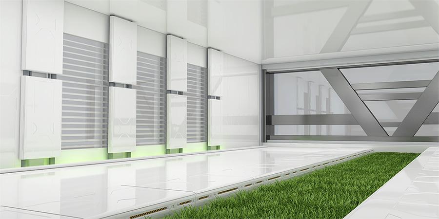 green grass lab