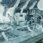 futuristic medical lab