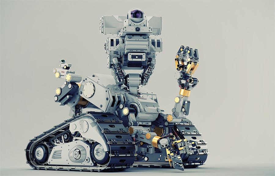 Smart multi-functional robot on tracks