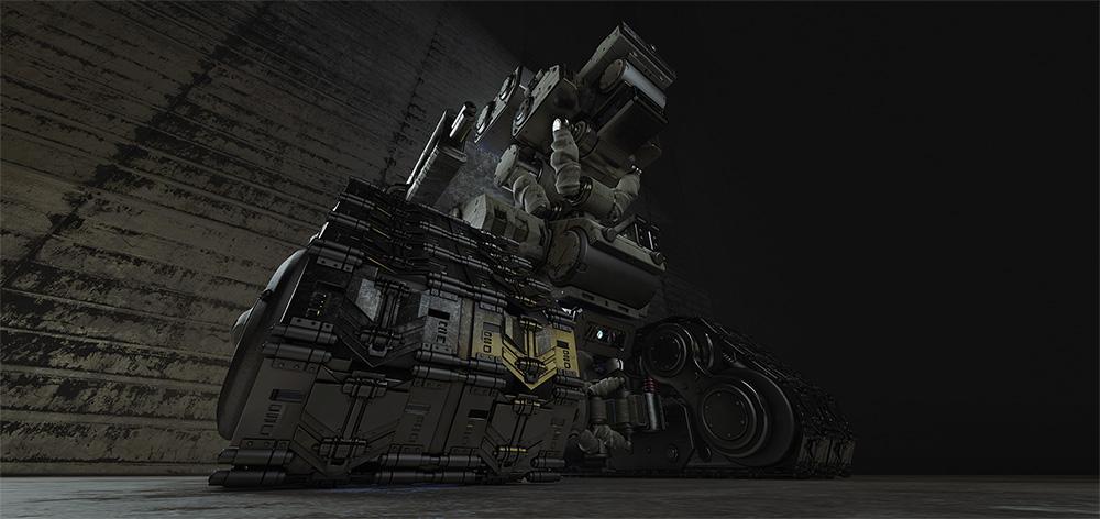 robotic explorer on tracks