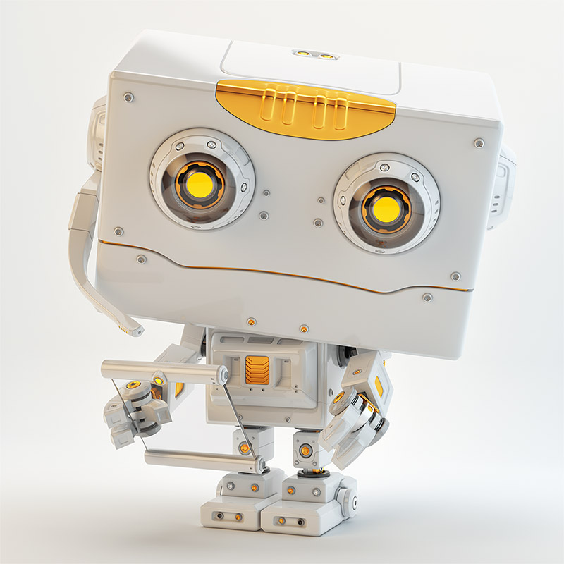 Robot toy with transparent tablet