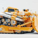 huge powerful vehicle- bulldozer