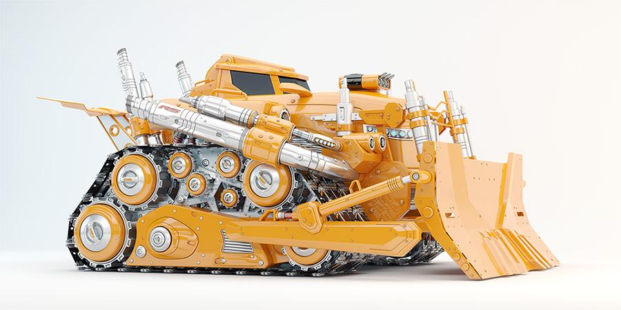 powerful bulldozer