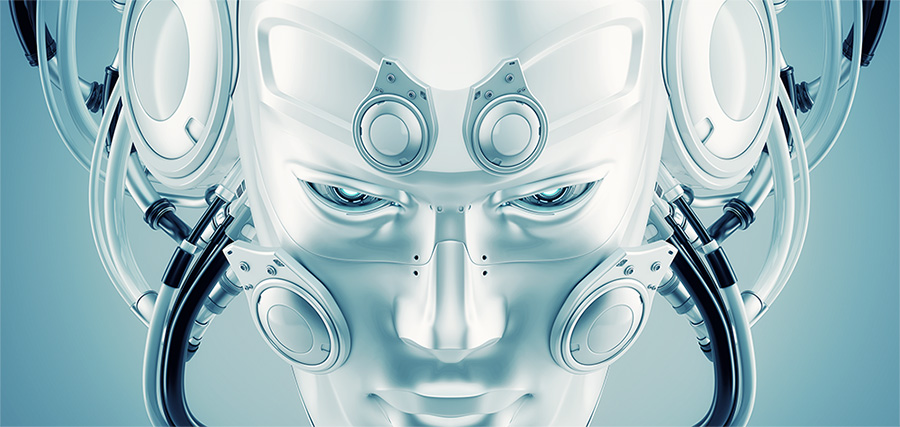 futuristic man face mask