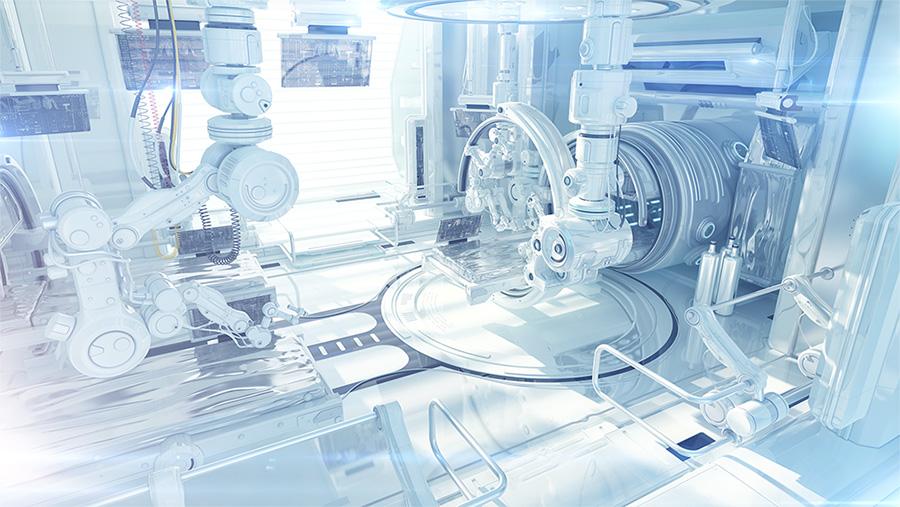 laboratory futuristic