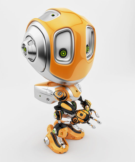 orange robot bee revival