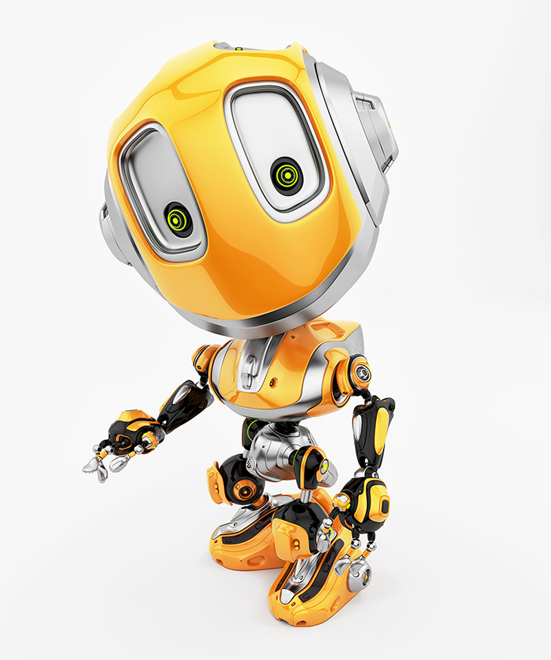 robot bee gesturing