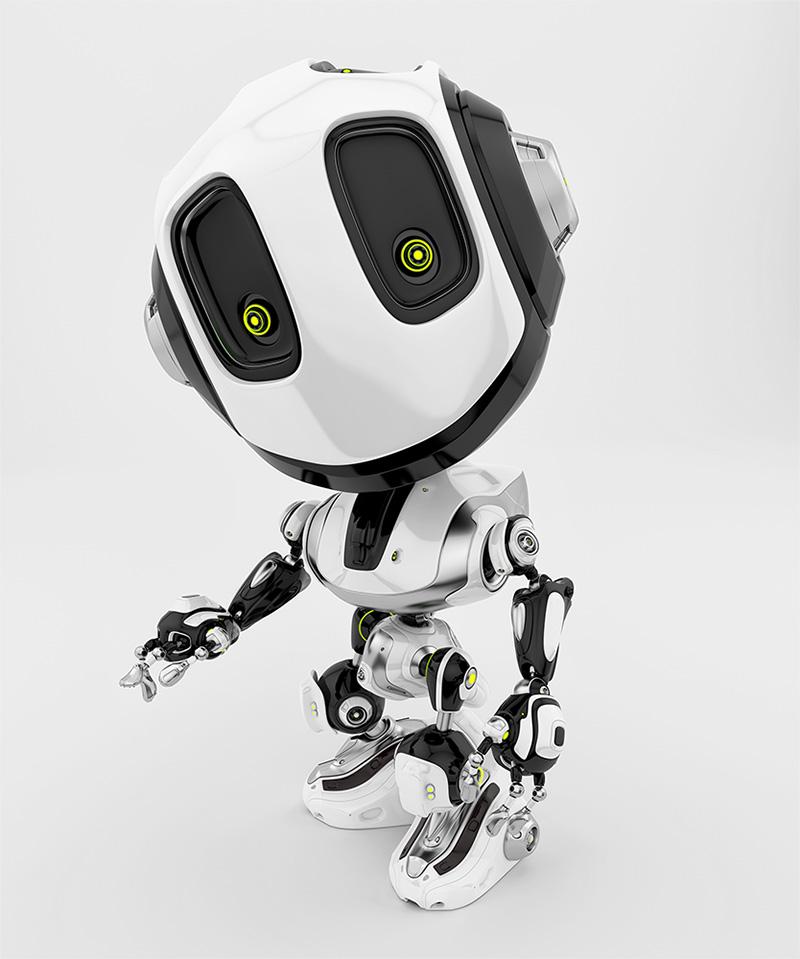 robot bee white