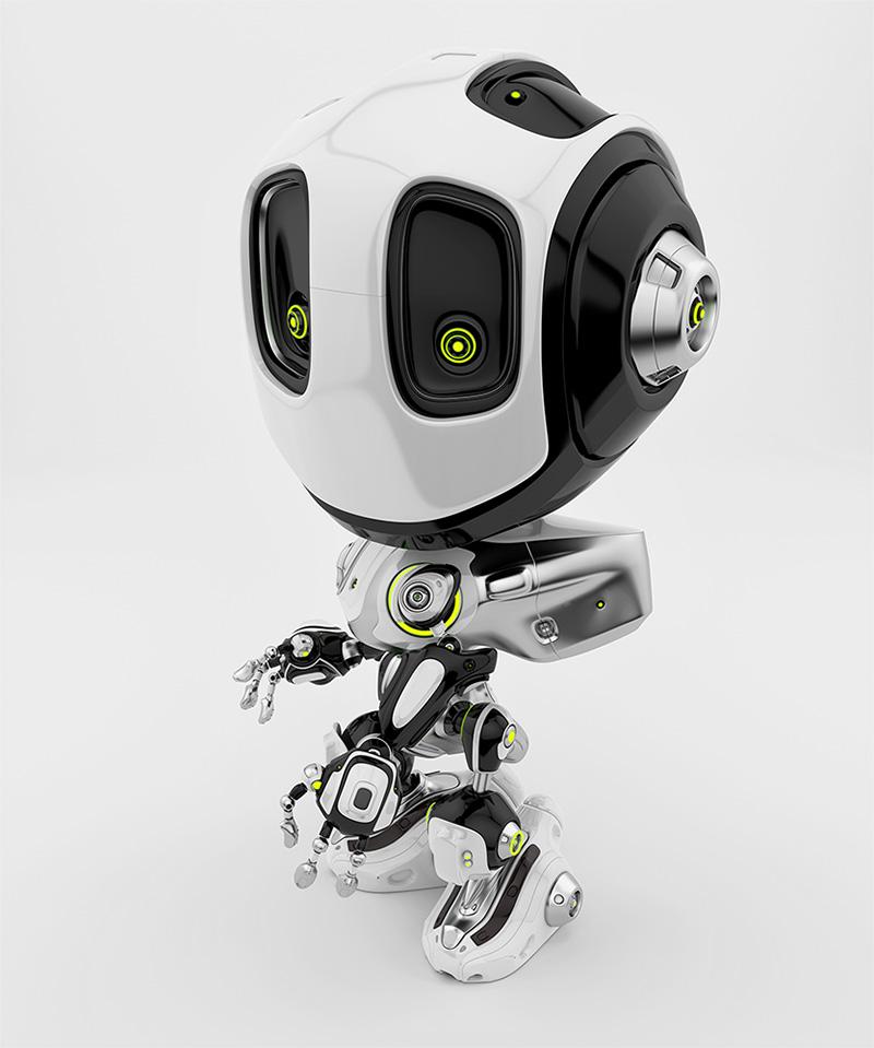 robot bee white albino