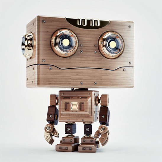cute robot toy retro vintage