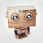 lovely robot wood toy