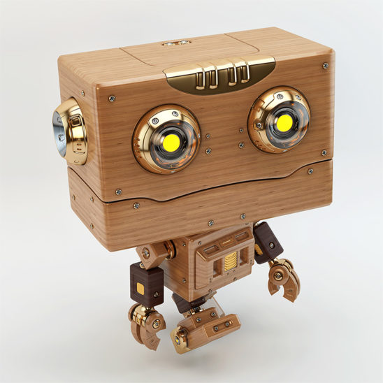 walking robot wooden