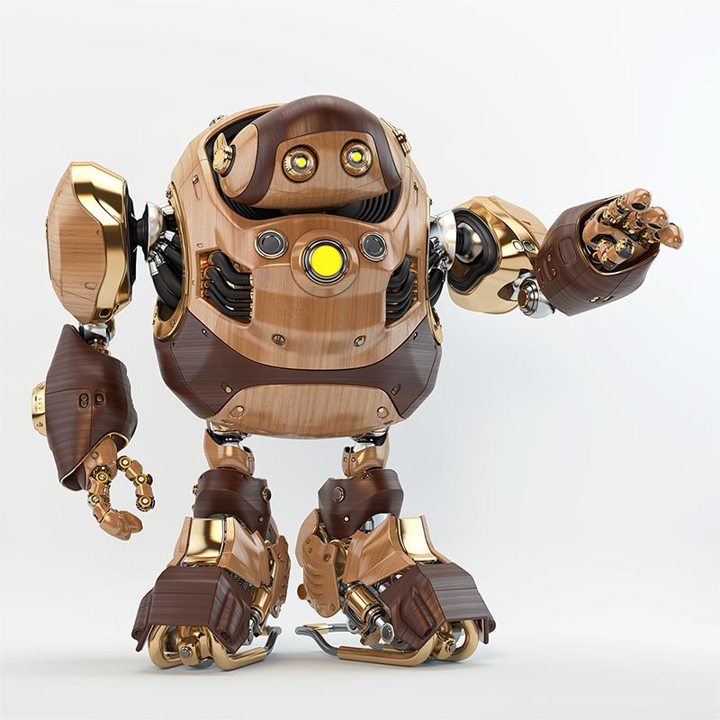 huge robotic turtle wooden