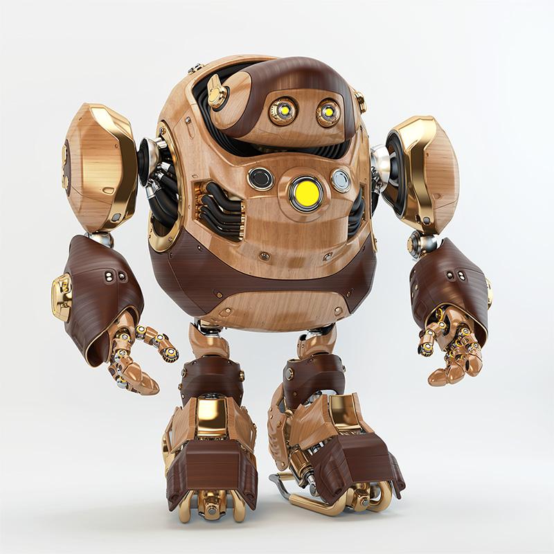 robotic turtle retro wood