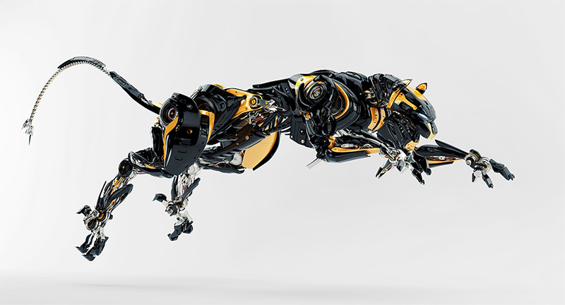robot panther jumps