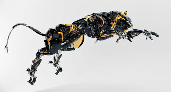 jump of robot panther