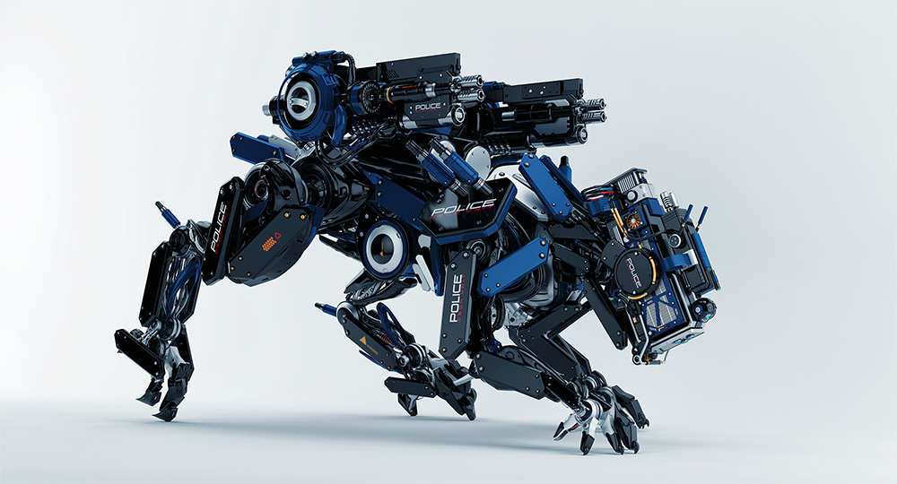 armed robot panther