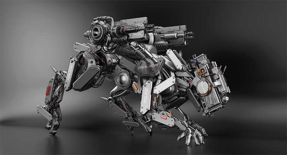 panther with guns