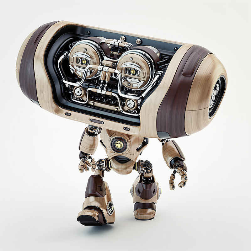 walking robot cheburashka