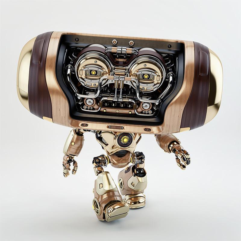 walking retro robot