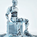 system administrator robot sitting