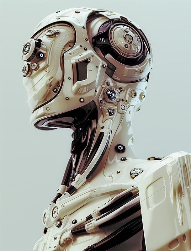 robot pilot with optical elements
