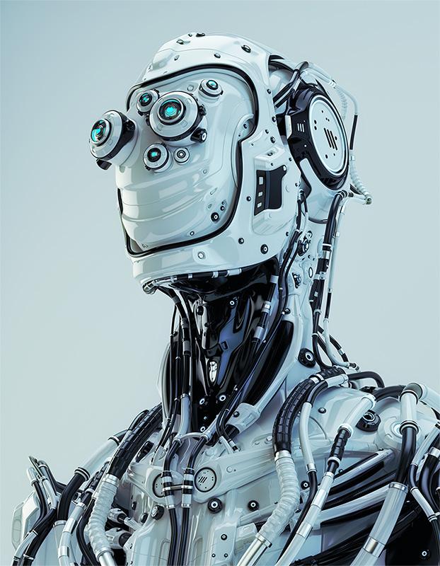 robotic pilot with huge optics set