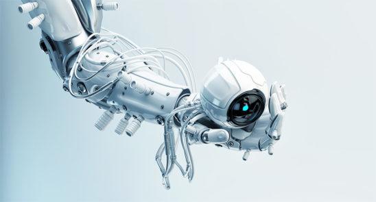 Robotic hand holding camera