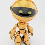 orange circle robot