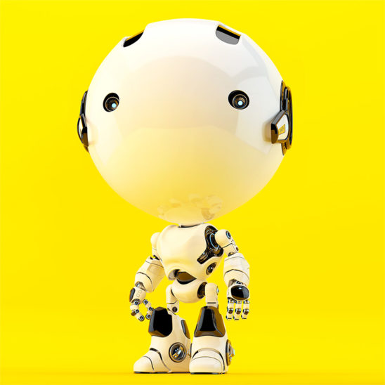 toddler yellow robot