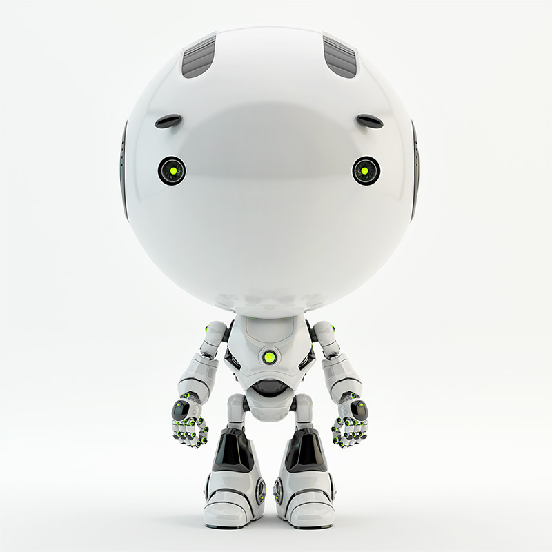 white robot toddler