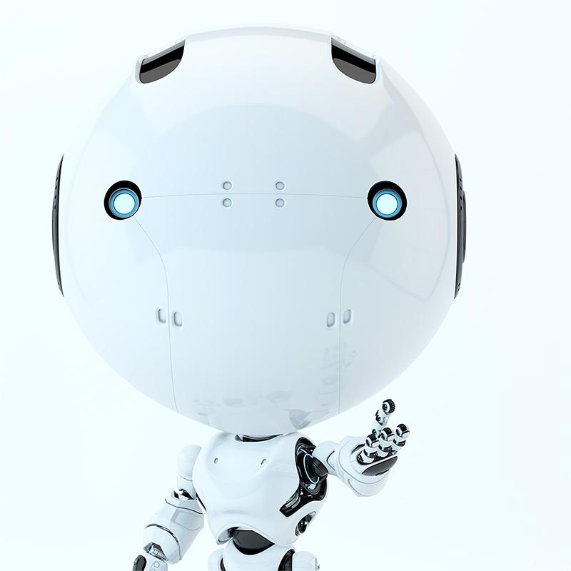 robot toddler hello ask
