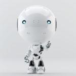 gesturing robot toddler