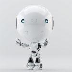 Toddler robot hands up