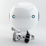 sitting toddler robot