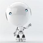 robotic toddler greeting