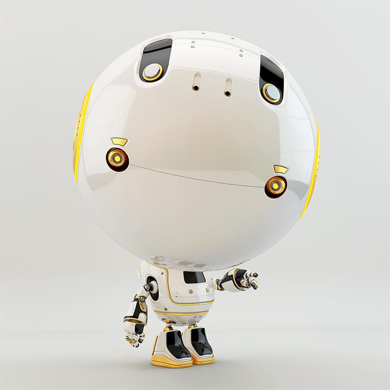 toddler robot pointing