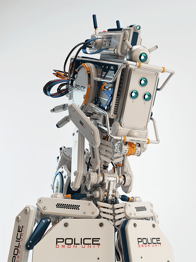 police drone unit robot