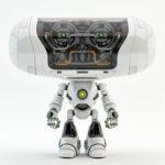 white robot toy Cheburashka