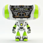 green bright cheburashka robot