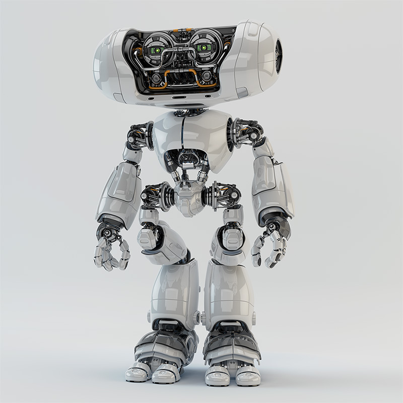 tall, high Cheburashka robot character