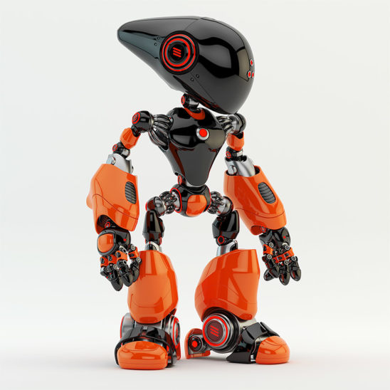 oculus robot terracotta and black color