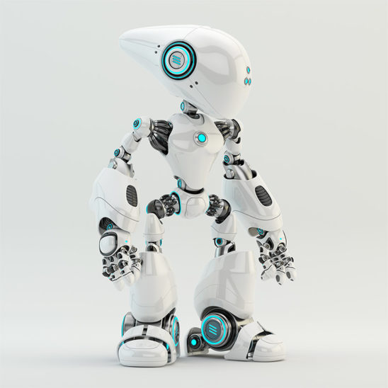 oculus robotic creature with elongated head