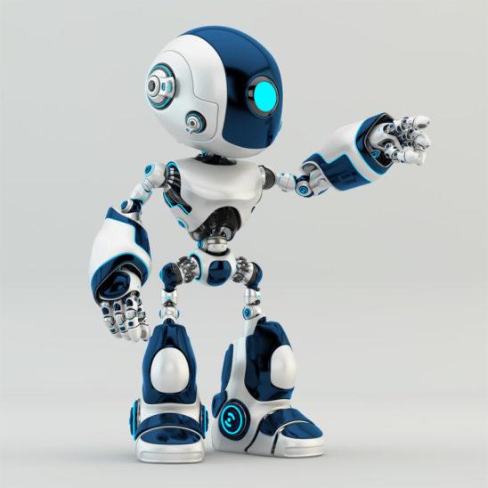 oculus robot pointing, gesturing