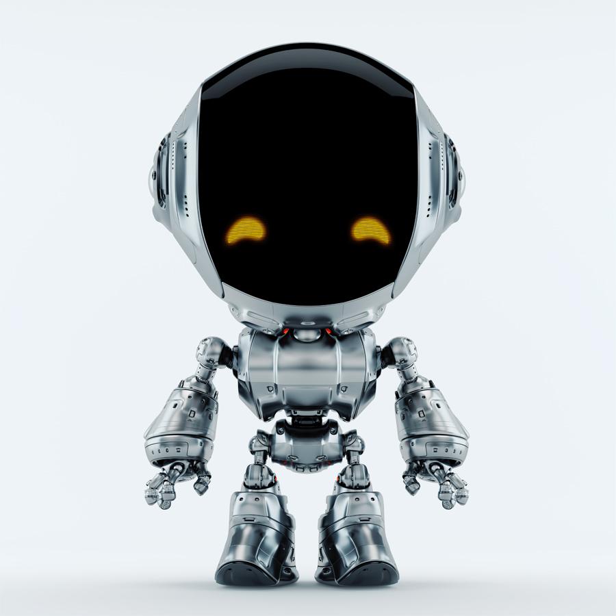 charming fun robot bot